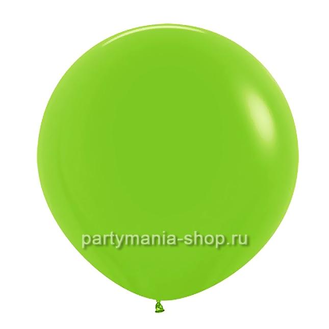 Большой зеленый (лайм) шар пастель 90 см с гелием