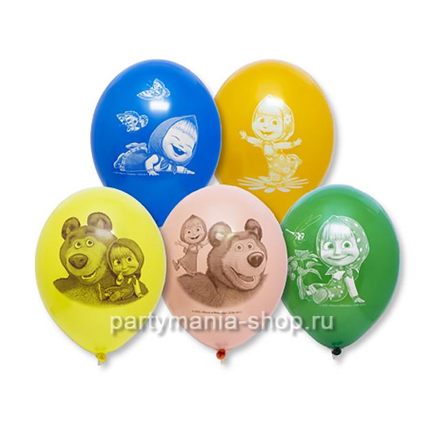 «Маша и Медведь» воздушные шары с двухсторонней печатью