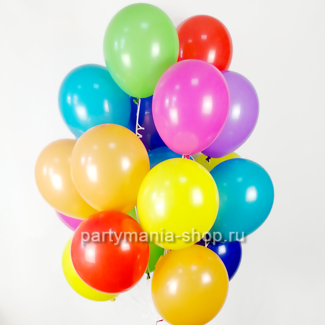 20 гелиевых шаров с бесплатной доставкой