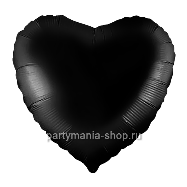 Фольгированное сердце черное 46 см