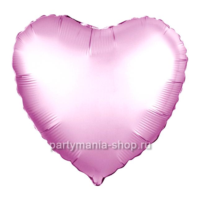 Фольгированное сердце розовое золото сатин с гелием  46 см