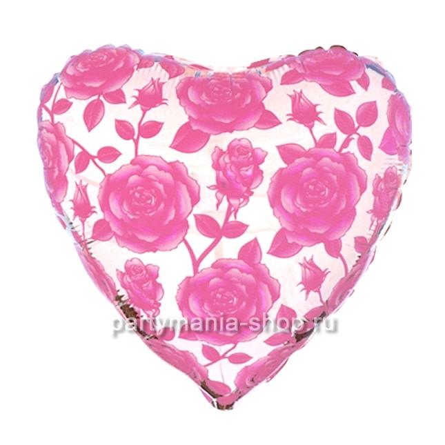 Сердце «Розы» фигурный шар 46 см