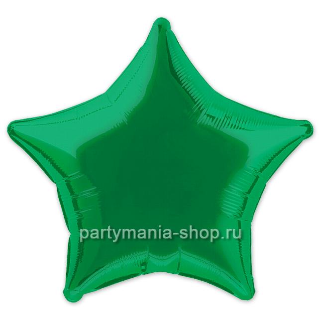 Фольгированная звезда зелёная 46 см