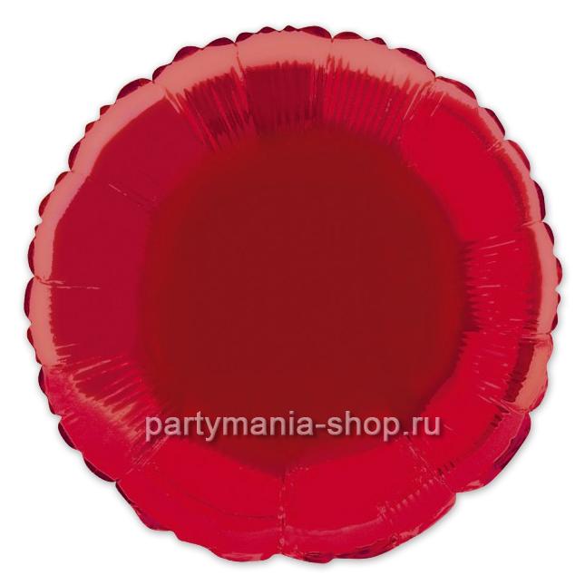 Фольгированный круг красный с гелием 46 см