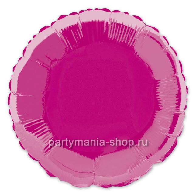 Фольгированный круг малиновый с гелием 46 см