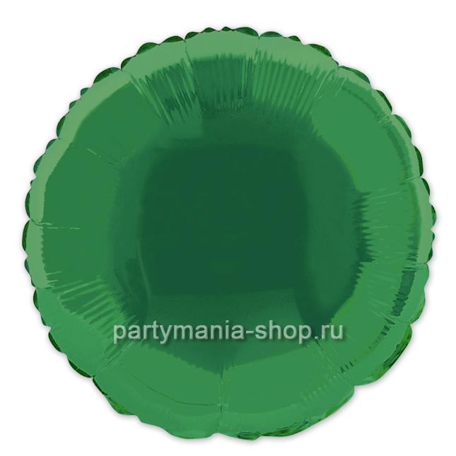 Фольгированный круг зелёный с гелием 46 см