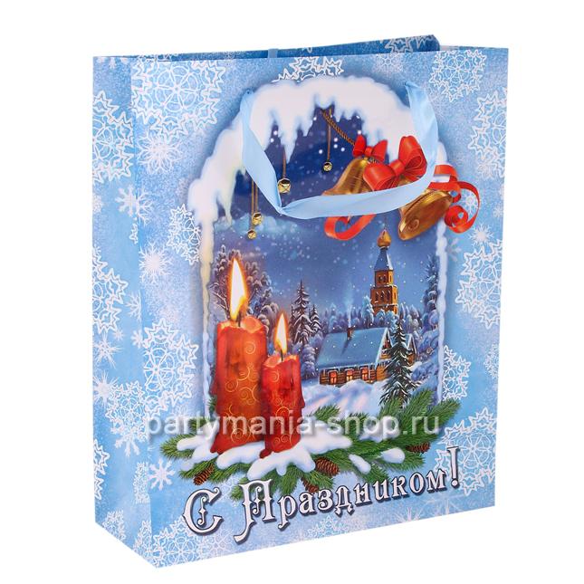 Пакет новогодний «С праздником»