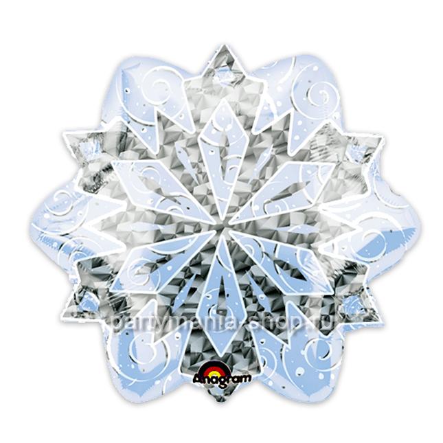 Голографический шар «Снежинка»