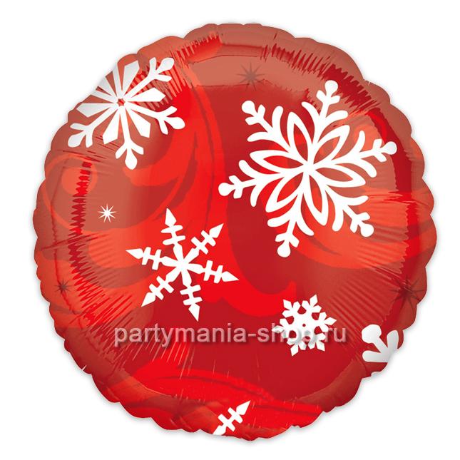 «Снежинки» круг красный
