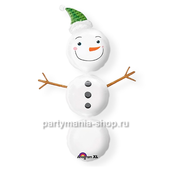 «Снеговик» фольгированная фигура