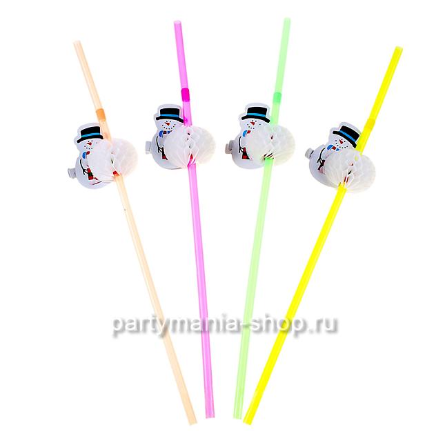 Трубочка для коктейля «Снеговик»