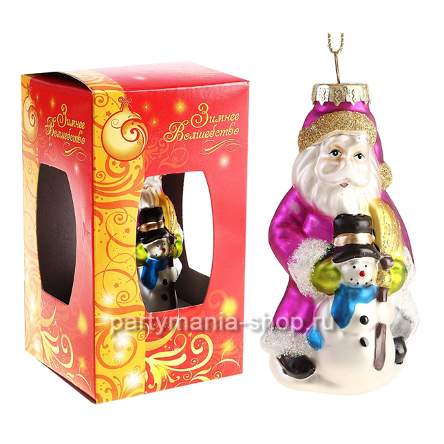 Ёлочная игрушка «Дед Мороз и Снеговик»