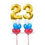 «23 февраля», композиция из шаров с цифрами