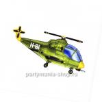 Вертолет зеленый фигурный шар