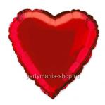 Фольгированное сердце красное с гелием 46 см