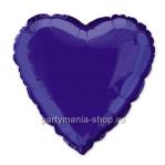 Фольгированное сердце фиолетовое с гелием 46 см