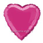Фольгированное сердце малиновое с гелием 46 см