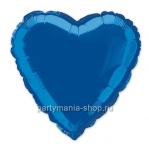 Фольгированное сердце синее с гелием 46 см