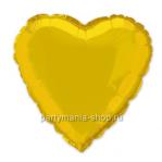 Фольгированное сердце золотое с гелием 46 см