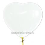 Сердце белое воздушный шар
