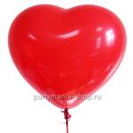 Красное сердце шар с гелием