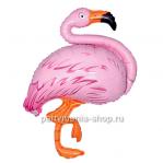 Фламинго фольгированный шар с гелием