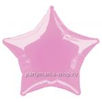 Фольгированная звезда розовая шар с гелием 46 см (глянец)