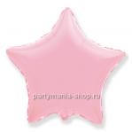Фольгированная звезда розовая шар с гелием 46 см (матовая)