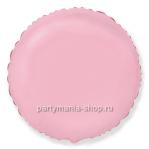 Фольгированный шар круг розовый с гелием 46 см