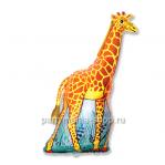 Жираф фольгированный шар с гелием