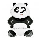 Панда фольгированный шар с гелием