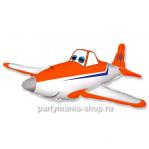 Самолет оранжевый фигурный шар