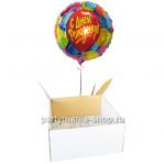 «С Днём Рождения» шар в коробке с бантом