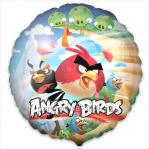 Шар Angry Birds круг 45 см