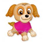 Собачка фольгированный шар с гелием