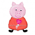 Свинка, фигурный шар