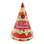 Набор колпаков «С днем рождения» торт, 6 шт.