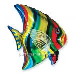 Тропическая рыба фольгированный шар с гелием