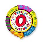 Цифра 0 шар круг с гелием