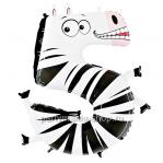 Цифра 5 «Зебра» шар с гелием