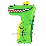 Цифра 7 «Крокодил» шар с гелием