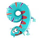 Цифра 9 «Ящерица» шар с гелием