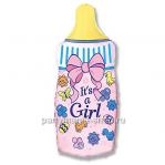 «Бутылочка для девочки» фольгированная фигура