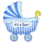 «Коляска для мальчика» фигурный шар