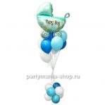 «Ура! Мальчик» композиция из шаров