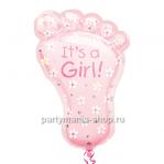 «Пятка малыша - It's a GIRL» фигурный шар