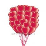 Шары - сердца 30 шт., 25 см с бесплатной доставкой