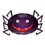 Паук с 3D-глазами фигурный шар с гелием