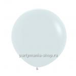 Белый шар пастель 60 см с гелием