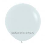 Белый шар пастель 90 см с гелием